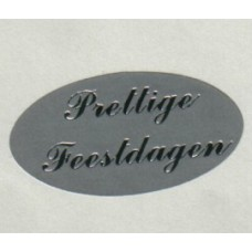 Etiket Prettige Feestdagen zilver/zilver Td27517180
