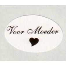 Etiket Voor Moeder wit/rood Td27517040