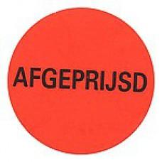 Prijssticker Ø35mm fluor rood Afgeprijsd 2000/rol Tpk546391