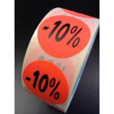 Etiket Ø27mm fluor rood -10% 500/rol Td27511410