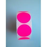 Prijssticker Ø35mm fluor roze 1000/rol Thw032035