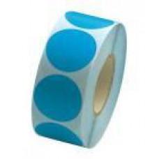 Prijssticker Ø25mm fluor blauw 1000/rol Td27501325