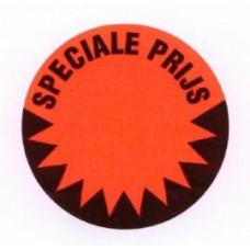 Prijssticker Ø35mm fluor rood Speciale Prijs 1000/rol Td27501490
