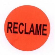 Prijssticker Ø35mm fluor rood Reclame 1000/rol Td27501489