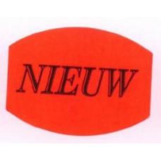 Etiket 33x25mm fluor rood Nieuw 500/rol Td27511505
