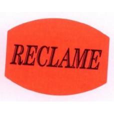 Etiket 33x25mm fluor rood Reclame 500/rol Td27511506