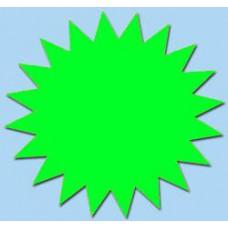Ster fluor groen 7cm 50st Tfr07017S