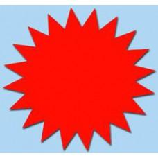 Ster fluor rood 7cm 50st Tfr07014S