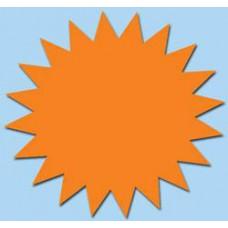 Ster fluor oranje 7cm 50st Tfr07015S