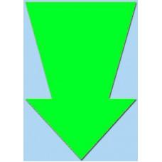 Pijl fluor groen 15cm 50st Tfr15017P