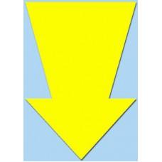 Pijl fluor geel 15cm 50st Tfr15016P