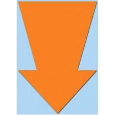 Pijl fluor oranje 15cm 50st Tfr15015P